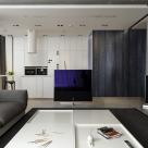 Дизайн двухуровневой квартиры площадью 200 кв.м, г.Киев, Оболонская набережная 1-а (авторы: Елена Романюк, Никита Борисенко)
