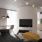 Дизайн однокомнатной квартиры площадью 45 кв.м, г.Киев, ул.Регенераторная, 4 (авторы: Елена Романюк, Никита Борисенко)