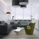 Дизайн двухкомнатной квартиры площадью 81 кв.м, ул. Никольско-Слободская, 1-а (авторы: Елена Романюк, Никита Борисенко)