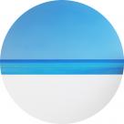 Картина  маслом – Santorini – диаметр - 1000 мм (автор – Елена Романюк)